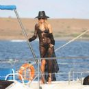 Abbey Clancy – Swimwear Photoshoot For 'Britain's Next Top Model' on Yacht in Cape Verde - 454 x 488