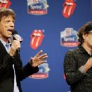 The Rolling Stones answers questions during the Sprint Half Time Show Press Conference at the Renaissance Center on February 2, 2006 in Detroit, Michigan - 454 x 303