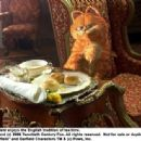 Garfield enjoys the English tradition of tea time. TM and © 2006 Twentieth Century Fox. All rights reserved.