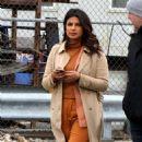 Priyanka Chopra on the 'Quantico' set in Red Hook NYC - 454 x 824