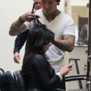 Kim Kardashian gets Professional Blow Out