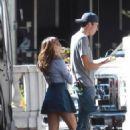 Lea Michele On The Set Of Glee In La