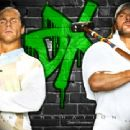 HBK and Triple H in front of DX Logo - 454 x 340
