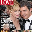 Melanie Griffith, Antonio Banderas - LOVE Magazine Cover [Spain] (18 June 2014)