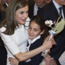 King Felipe VI of Spain and Queen Letizia of Spain : ARCO opening - 399 x 600