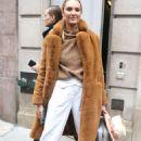 Candice Swanepoel – Leaving Ralph Lauren Show in New York - 454 x 682