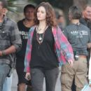 Emmy Rossum: on the set of 'You're Not You,' being filmed in Los Angeles