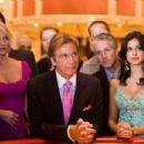 Ellen Barkin, Al Pacino and Noureen DeWulf in Steven Soderbergh drama thriller's Ocean's Thirteen. Photo by Melinda Sue Gordon