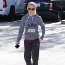 Kendra Wilkinson is seen heading to the gym in Woodland Hills, California for a workout on December 15, 2014