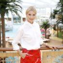 Lena Gercke christens the AIDAperla cruise ship in Palma de Mallorca - 454 x 303