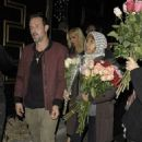 David Arquette leaves pregnant girlfriend at home as he parties until early hours (and gets accosted by flower ladies as he exits club)