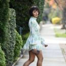 Kat Graham in Mini Dress – Out in Los Angeles - 454 x 633