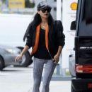 Naya Rivera at a Gas Station in Los Angeles - 454 x 649