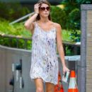 'Twilight' actress Ashley Greene is spotted out for a stroll in New York City, New York on August 21, 2014
