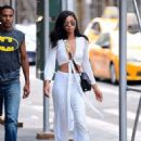 Chanel Iman – Out and about in NYC - 454 x 488