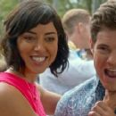 Aubrey Plaza and Adam Devine