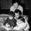 John Derek and Pati Behrs with their son Russell and daughter Sean Catherine