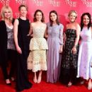 The Writer Jojo Moyes and the cast of Me Before You  - London Premiere (2016)