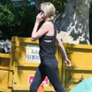 Charlize Theron in Leggings – Out in Los Angeles - 454 x 681