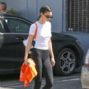 Kendall Jenner in Tights – Leaves a studio in style in Calabasas