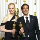 Nicole Kidman and Adrien Brody At The 75th Annual Academy Awards (2003) - Press Room - 289 x 420
