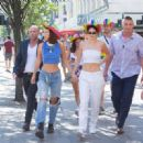 Kendall Jenner and Bella Hadid at The Pride Parade in London
