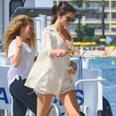 Kendall Jenner seen getting some R&R as she visits the Roman Abramovich's yacht, Eclipse, in Cannes, France on May 15, 2016