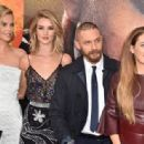 Charlize Theron, Rosie Huntington-Whiteley, Tom Hardy, Riley Keough  -  May 7, 2015-Premiere Of Warner Bros. Pictures' 'Mad Max: Fury Road' - Red Carpet - 454 x 314