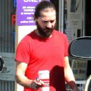 Shia LaBeouf looking scruffy while getting coffee in Studio City, CA on March 9, 2012