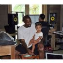 Kanye West poses with his daughter North in the recording studio in Mexico. August 4, 2014
