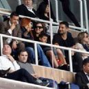 Irina Shayk and Cristiano Ronaldo, Jr. watching his dad play soccer in Madrid, Spain (April 20)