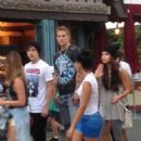 Selena Gomez and Austin Mahone out at Disneyland in Anaheim (June 26)