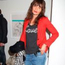 Helena Christensen at a gallery opening in New York