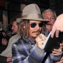 Johnny Depp Greets Fans in NYC
