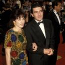 Ana Leza and Antonio Banderas during The 64th Annual Academy Awards (1992)