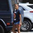 Christina Milian in Shorts – Out in Studio City - 454 x 642