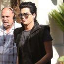 "Adam Lambert Visits with ""Extra,"" ""Talk Today"""