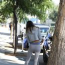 Alessandra Ambrosio – In grey sport outfit arrives for a private workout in West Hollywood