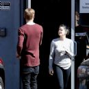 Ariel Winter meets up with Levi Meaden at a studio in North Hollywood