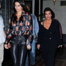 Kendall Jenner in Leather Pants at Nobu restaurant in New York - 454 x 681