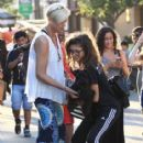 Zendaya Coleman is seen shopping with her mom and dog at the Grove in Los Angeles, California on August 12, 2016 - 415 x 600