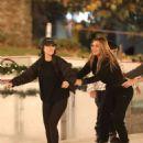 Kourtney Kardashian and Larsa Pippen – Ice skating in Los Angeles - 454 x 681