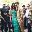 Priyanka Chopra and Nick Jonas – Arrives at Jodhpur Airport in India