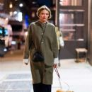 Martha Huntwith her dog out in NYC - 454 x 681