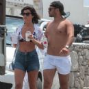 Lucy Mecklenburgh in Bikini Top with Brooke Vincent in Mykonos - 454 x 681