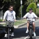 Abby Champion and Patrick Schwarzenegger – Goes cycling together in Santa Monica
