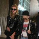 Kristen Stewart and Stella Maxwell at Charles de Gaulle airport in Paris