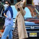 Dianna Agron – Spotted with a friend in NYC