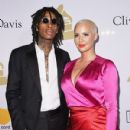 Amber Rose and Wiz Khalifa attend Pre-GRAMMY Gala and Salute to Industry Icons Honoring Debra Lee at The Beverly Hilton in Los Angeles, California - February 11, 2017 - 430 x 600