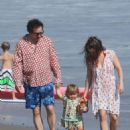 Helena Bonham Carter - Playing On The Beach With Tim And Nell